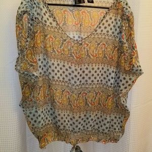 RU Large Sheer Boho Blouse